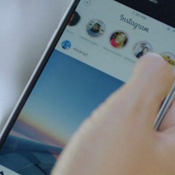 App opened in Instagram Stories